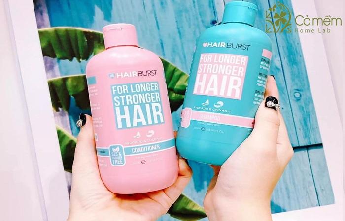 Dau goi cho toc kho xo Hairburst For Longer Stronger Hair