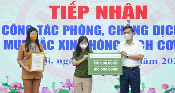 Cỏ Mềm góp Quỹ vắc xin phòng Covid-19, mua vắc xin cho CBNV - Vietnamnet đưa tin