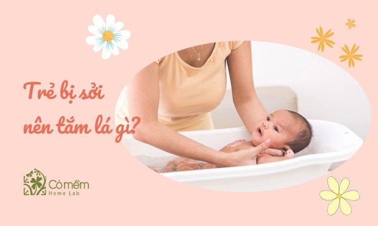 Tiết lộ 6 loại lá mẹ nên nấu nước tắm cho bé khi bị sởi